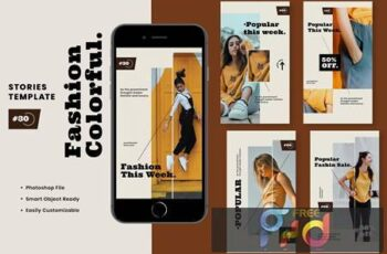 Fashion Colorful Instagram Stories Template KEARBEP 3