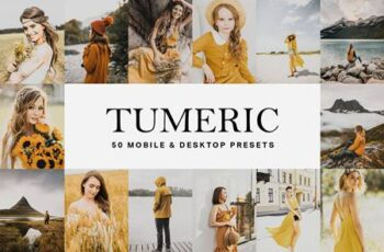 50 Tumeric Yellow Lightroom Presets 4834012