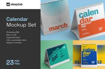 Desk Calendar Mockup Set - 23 styles 4342322 7