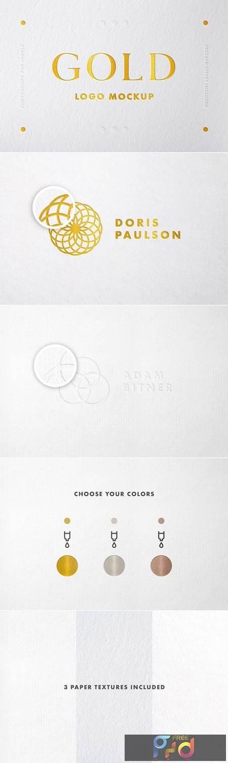 Gold Foil Logo Mockup 4817227 1