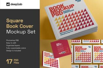 Square Book Hardcover Mockup 4336103 16