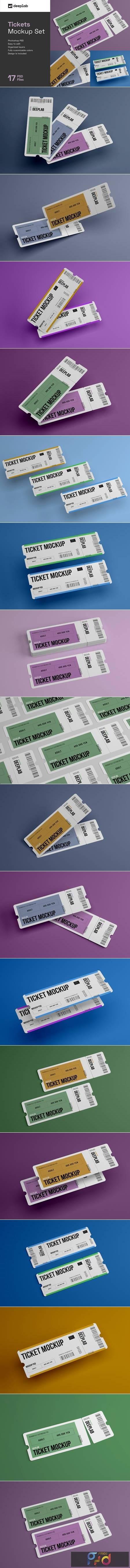 Tickets Mockup Set - 17 styles 4328495 1