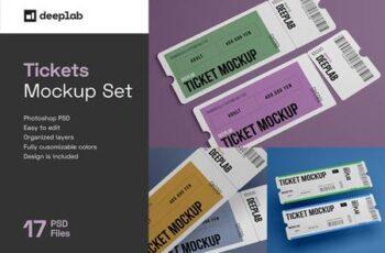 Tickets Mockup Set - 17 styles 4328495 14