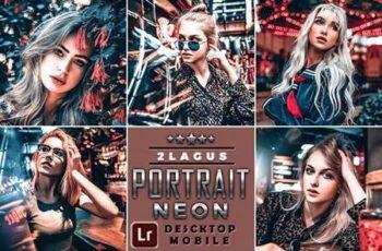 PRO Neon Portrait Lightroom Presets ( Mobile & Desktop ) 26195683 2