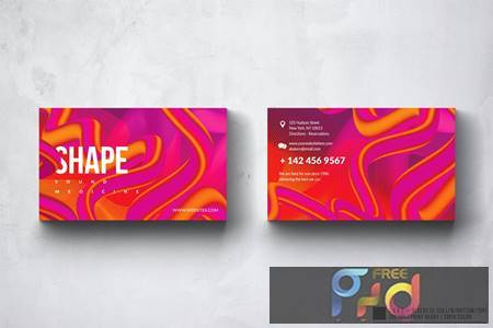 Shape Business Card Design UCY35Y4 1