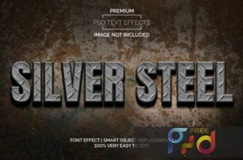 Silver Steel Text Effects Style Premium 3872551 4