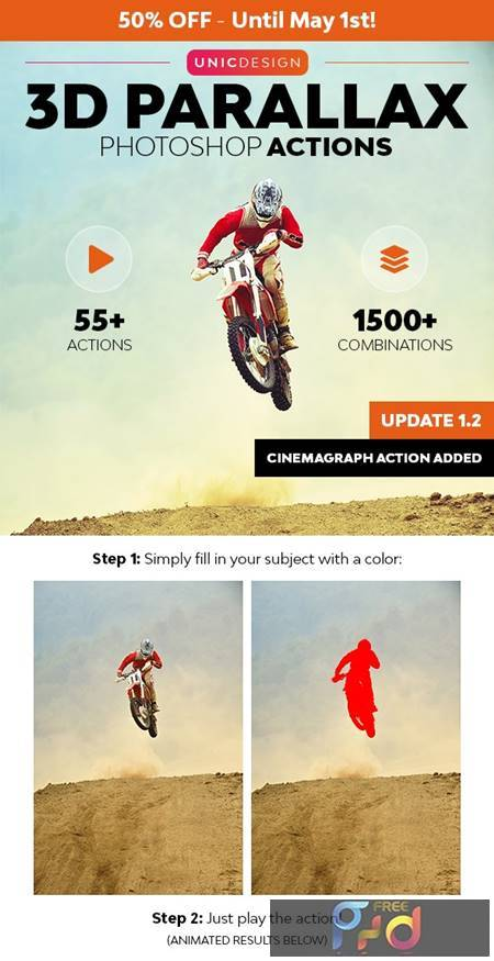 3D Parallax Animated Photoshop Actions 26308092 1