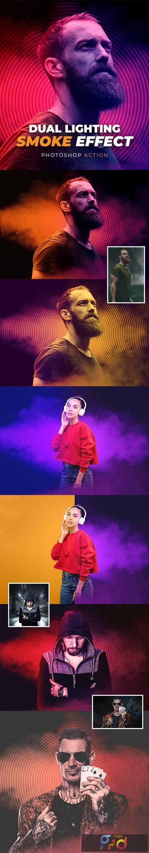 Dual Lighting Smoke Effect Photoshop Action 26272281 1