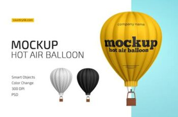 Hot Air Balloon Mockup 4458889 5