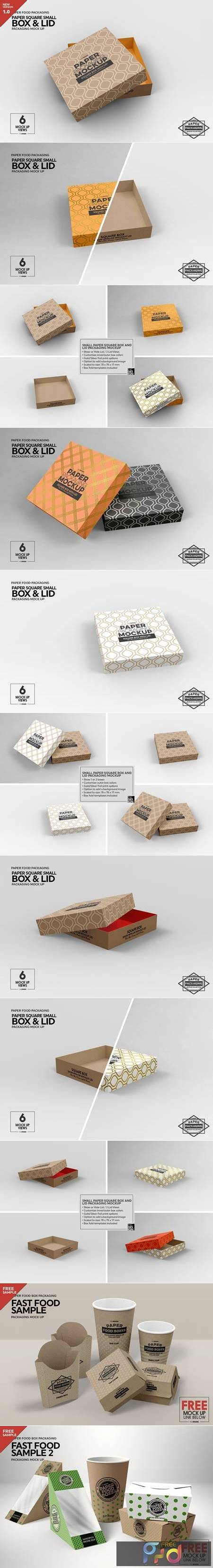 Small Square Paper Box&Lid Mockup 4824442 1