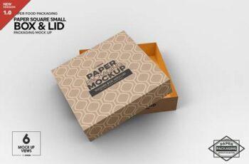 Small Square Paper Box&Lid Mockup 4824442 3