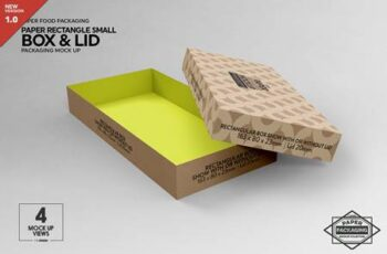 Small Rectangular Box & Lid Mockup 4824448