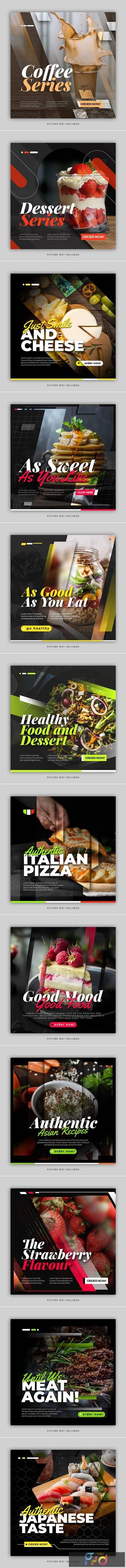 Food instagram post feed template 1