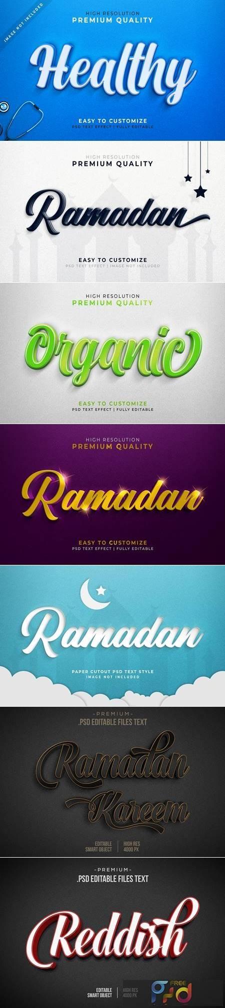 Luxurious ramadan 3d text style effect mockup 1