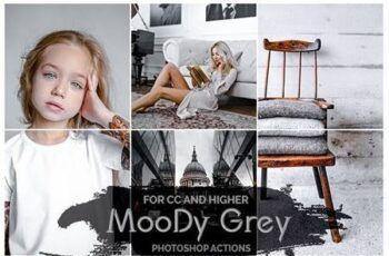 Moody Grey - Photoshop Actions 26243850 2