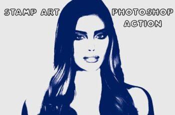 Stamp Art Photoshop Action 4843429 2
