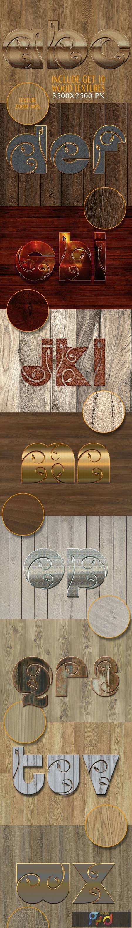 10 3D Text Styles Nature Wood V K7 26342197 1