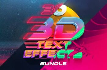 3D Text Effects Bundle Vol.4 4854498 5