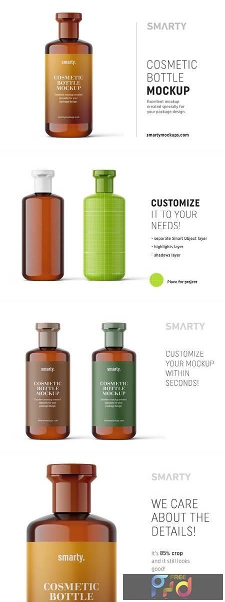 Amber cosmetic bottle mockup 4817361 1
