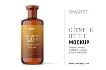 Amber cosmetic bottle mockup 4817361 3