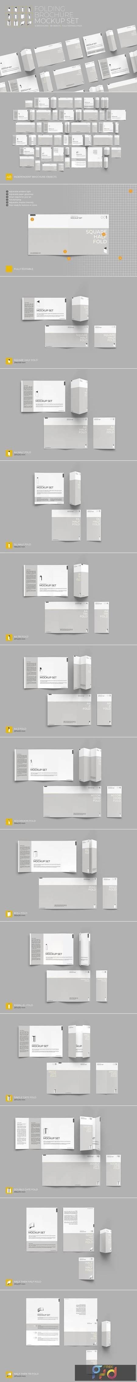 Folding Brochure Mockup Set 4409695 1