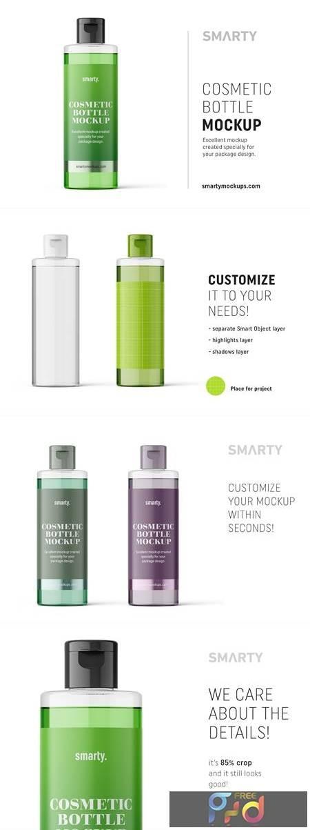 Transparent cosmetic bottle mockup 4817638 1