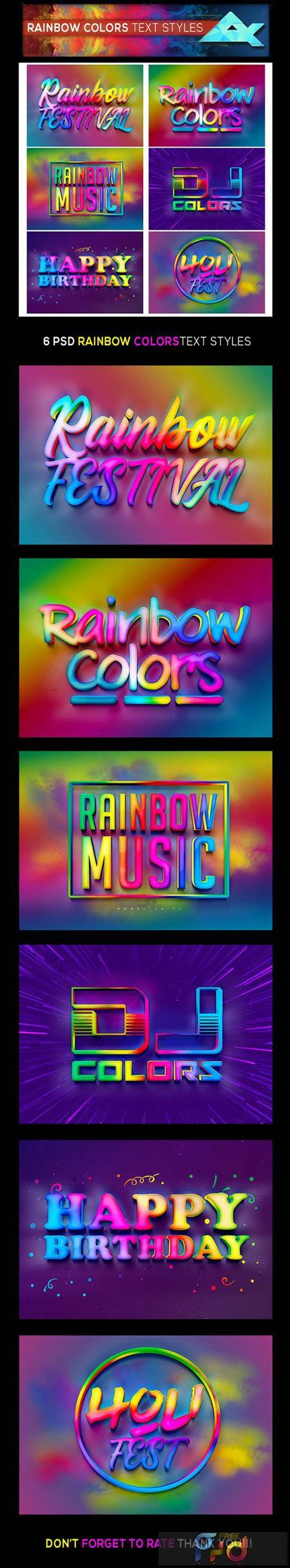 Rainbow Colors Photoshop Text Effects Styles 26378765 1