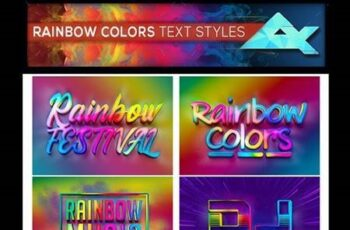 Rainbow Colors Photoshop Text Effects Styles 26378765 9