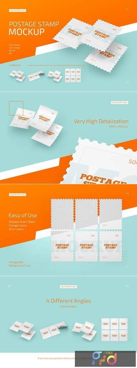 Postage Stamp Mockup Set 4413922 1