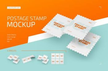 Postage Stamp Mockup Set 4413922 3