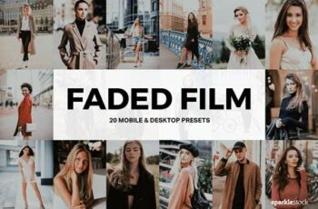 20 Faded Film Lightroom Presets and LUTs 4857350 2