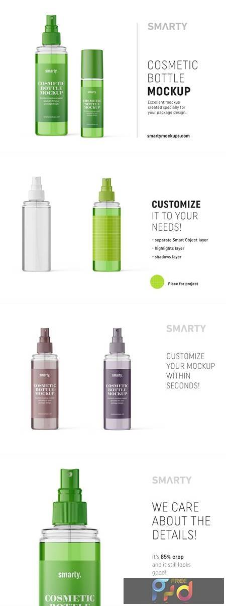 Transparent cosmetic bottle mockup 4825858 1
