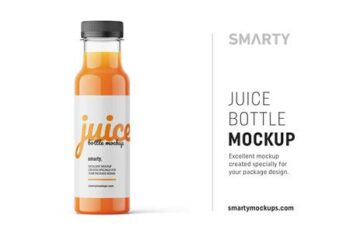 Carrot juice bottle mockup 4825702 16