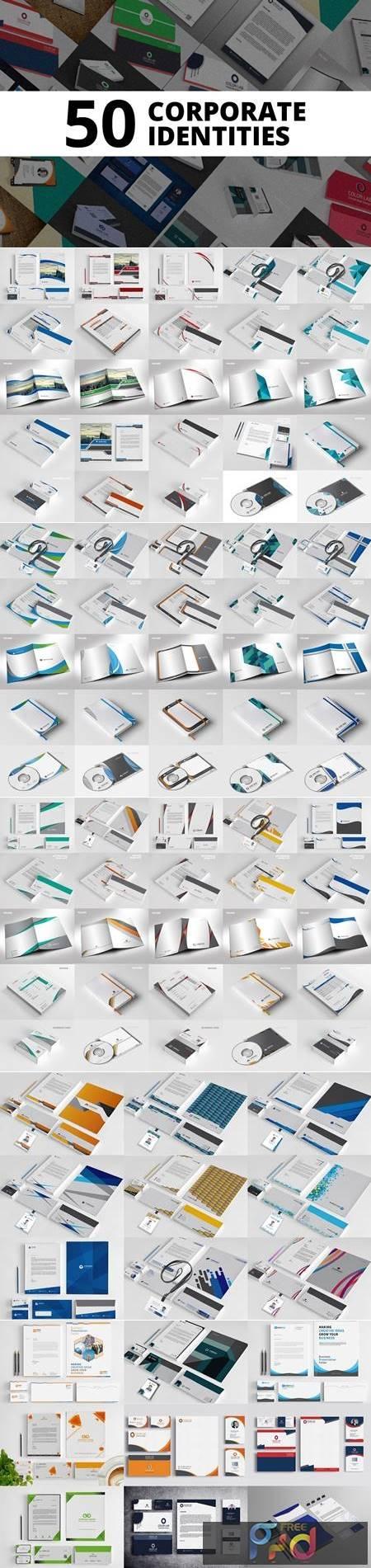50 Corporate Identities Bundle 4432899 1