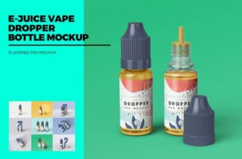 E-Juice Vape Dropper Bottle MockUp 4399413 15