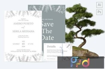 Amero and Serila Wedding Invitation HKA2VT5 8
