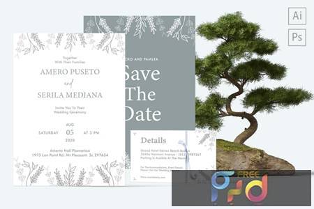 Amero and Serila Wedding Invitation HKA2VT5 1
