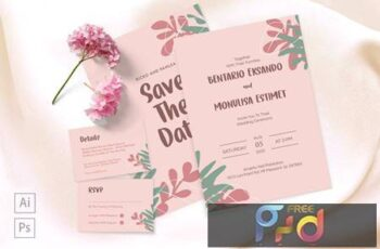 Bentario and Monulisa Wedding Invitation 97DNY8Z 6