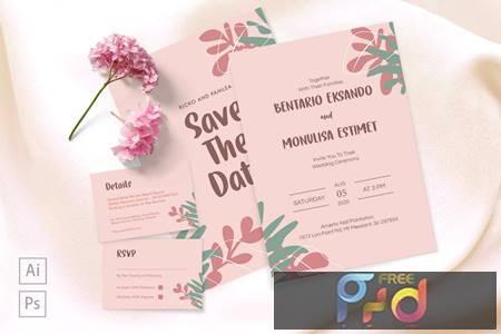 Bentario and Monulisa Wedding Invitation 97DNY8Z 1