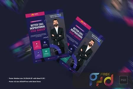 Business,Corporate Poster PSD Template 6QA4FEC 1