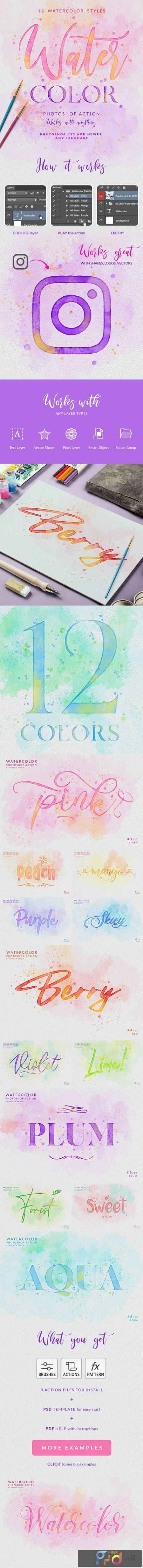 Watercolor Painting - Photoshop Action 25787736 1