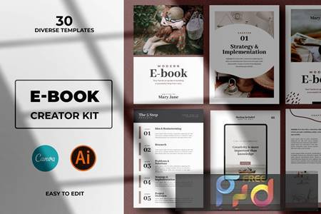Modern Abstract Ebook Templates For Canva L6NWCTP 1