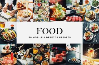 50 Food Lightroom Presets and LUTs 4761224 5