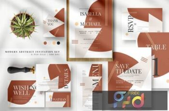 Modern Abstract Invitation Set AE ZFMD58G 3