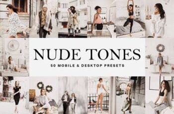50 Nude Tones Lightroom Presets and LUTs 4755478