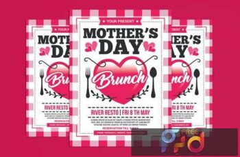 Mothers Day Brunch Flyer N5BJE8G 4