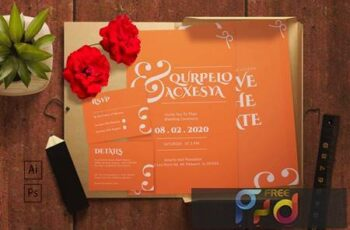 Querpelo and Axcesya- Wedding Invitation XWM8ERR 2
