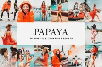 50 Papaya Orange Lightroom Presets and LUTs 4775274 7