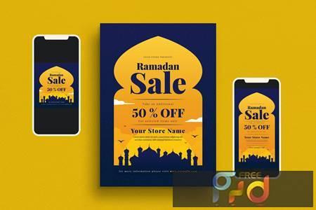 Ramadan Sale Flyer Set KB99GES 1