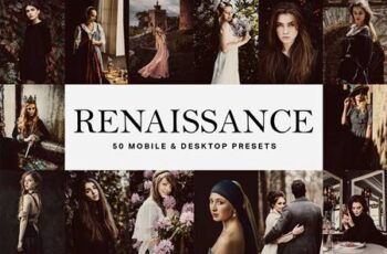50 Renaissance Lightroom Presets and LUTs 4765942
